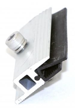 Боковой фиксатор для безрамочных солнечных модулей толщиной 6,8-7,2мм